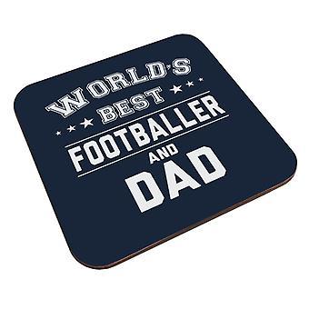 Worlds Best Footballer And Dad Coaster