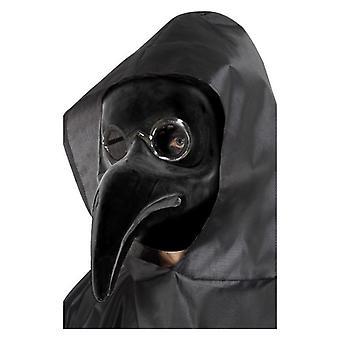 Authentische Pest Arzt Maske, schwarz