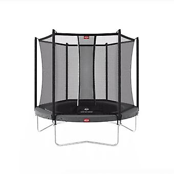 berg grey favorit regular 200 7ft trampoline and safety net comfort