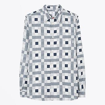PS Paul Smith  - Patchwork Check Shirt - White/Navy