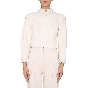Alberta Ferretti 051266357 Frauen's weiße Baumwolle Strickjacke