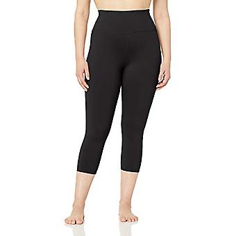 Core 10 Women's Plus Size All Day Comfort High Waist Capri Yoga Legging - 22,...