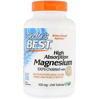 Doctor's Best, High Absorption Magnesium 100% Chelated with Albion Minerals, 100