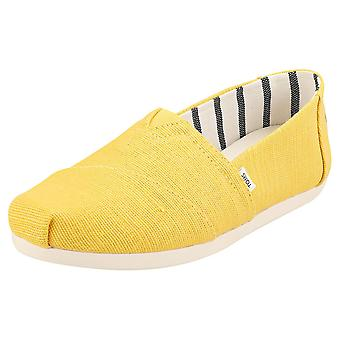 Toms Aplargata Womens Espadrille Shoes in Gold