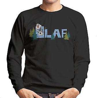 Disney gefroren Olaf umgeben von Bäumen Männer's Sweatshirt