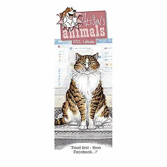 Otter House 2021 Slim Calendar - Alisons Animals
