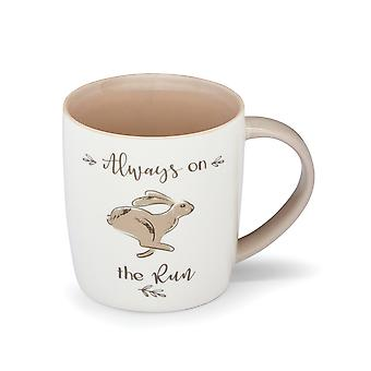 Cooksmart Country Animals Barrel Mug, Hare