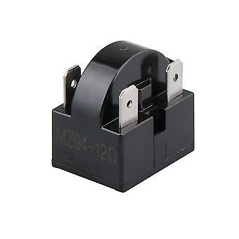 Frigider Compresor PTC Releu Starter 12 Ohm 4 Pini Negru