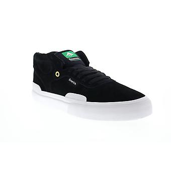 Emerica Pillar Mens Black Suede Lace Up Skate Sneakers Shoes