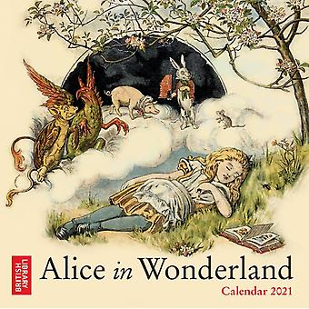 Britse bibliotheek Alice in Wonderland Mini Wall kalender 2021 Art Calendar door Gemaakt door Flame Tree Studio