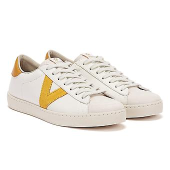 Victoria Berlin Contrast Leather Womens White / Yellow Trainers