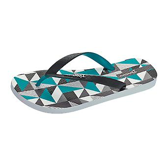 Ipanema Cubes Mens Flip Flops / Sandals - White and Turquoise