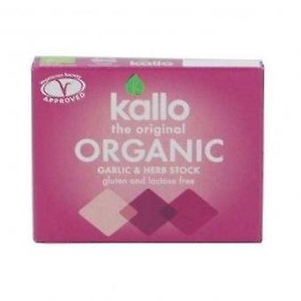 Kallo - Garlic & Herb Stock Cubes 66g