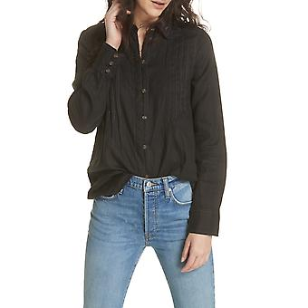 Free People | Pleated Button Down Blouse