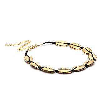 Rope Gold String Line Shell Necklace