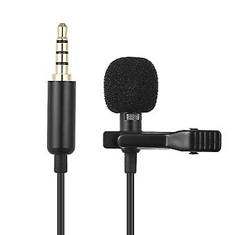 Mini Clip-on Lapel Lavalier Microphone Portable Microphone Condensateur Wired Mic