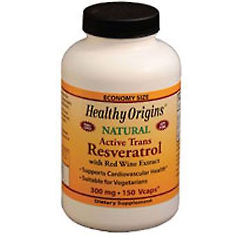 Origines saines Resvératrol naturel, 300 mg, 150 Bonnets de légumes