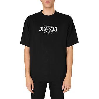 Marcelo Burlon Cmaa054f20jer0091040 Men's Zwart Katoen T-shirt