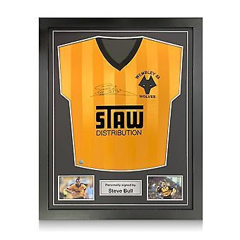 ستيف بول وقعت الذئاب 1988 قميص. الإطار القياسي