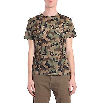 N°21 F02863640001 Men's Camouflage Cotton T-shirt