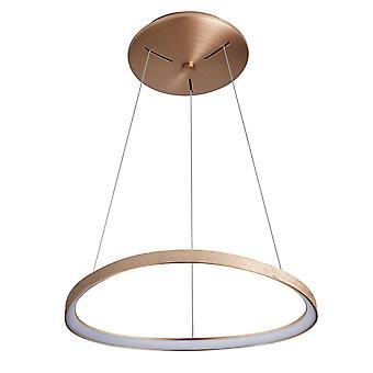 Italux Morphi - moderne LED hengende anheng børstet gull, varm hvit 3000K 2640lm kan dimmes