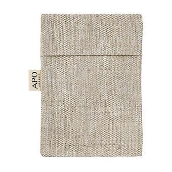 Coated linen soap bag - Ecru color 1 unit (Grey)