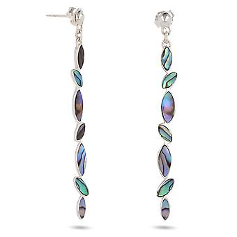 ADEN 925 Sterling Silver Abalone Mother-of-pearl Earrings (id 3695)
