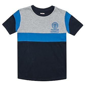 Boy's Franklin And Marshall Junior Colourblock T-Shirt in Blue