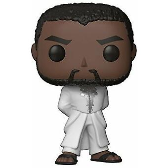 Marvel Black Panther T ' Challa White robe pop! Vinil figura + pop protector