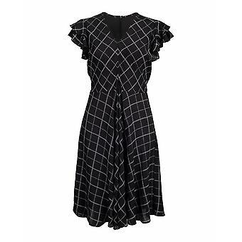 Hem Flutter Sleeve Dress
