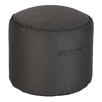 Loft 25 Bean Bag Round Footstool   Living Room Beanbag Furniture   Lightweight Soft & Comfy   Premium Ottoman Pouffe Foot Stool (Charcoal)