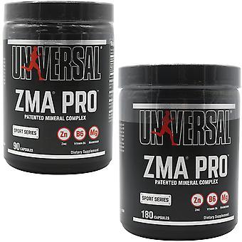التغذية العالمية ZMA برو - 2 الأحجام - يجمع بين الزنك والمغنيسيوم وفيتامين B6