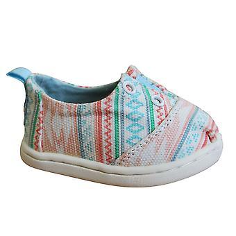Toms Lumin Slip On Toddlers Espadrille Shoes Multi Ethnic Tribal Kids 10011533
