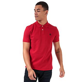 Men's Timberland Miller River Polo Shirt in rot
