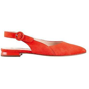 Hogl cheery red low heels womens red