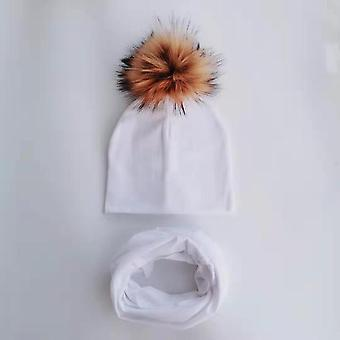 Autumn & Winter Baby Beanie Bonnet And Collar Scarf Set