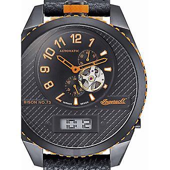 Reloj para hombre Ingersoll IN1716BBKO, Automático, 55mm, 10ATM