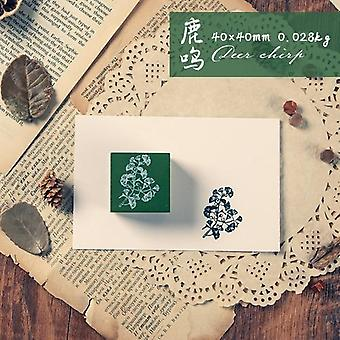 Retro Plant Diy Craft Wooden Rubber Leaves Stamps For Scrapbooking Seal