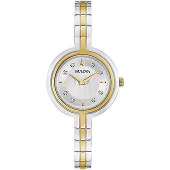 ブローバ98P193レディースラプソディクラシックツートーンダイヤモンド腕時計