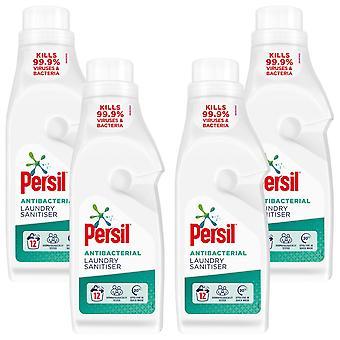 4x Van 12 Wasbeurten Persil Antibacteriële Wasserij Sanitiser 1.2Liter, Totaal 48 Wasbeurten
