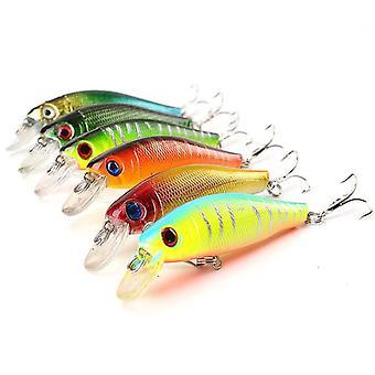ZANLURE 8Pcs/Set 8.5CM 7.2G Laser Minnow Fishing Lure Pesca Hooks Fish Wobbler Tackle Crankbait Arti
