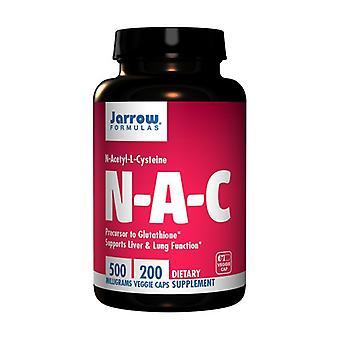 N-A-C 500 Mg 200 kapselia