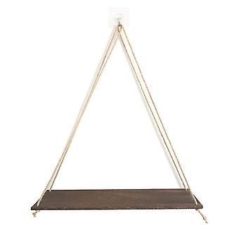 Plant Stand Premium Wooden Swing Rope, Wall Hanging Floating Shelves/ Plant
