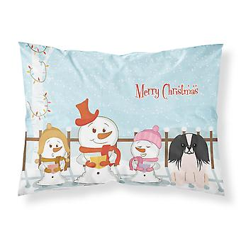 Caroline's Treasures Christmas Carolers Merry Pekingnese Black White Fabric Standard Pillowcase Bb2436Pillowcase