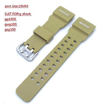Watchband Silicone Rubber Bands For Casio Watches