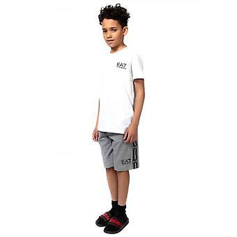 EA7 Kids White Logo T-Shirt