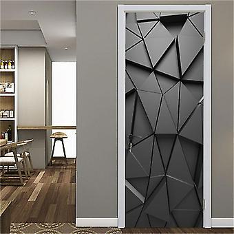 Modern Door Mural Self-adhesive Waterproof Vinyl Poster