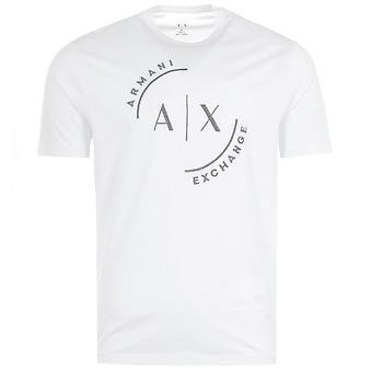 Armani Exchange Large AX Circle T-Shirt - White