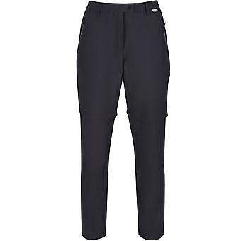 Regatta Womens Highton Zip Off Legs Outdoor Walking Trousers Pants - Black