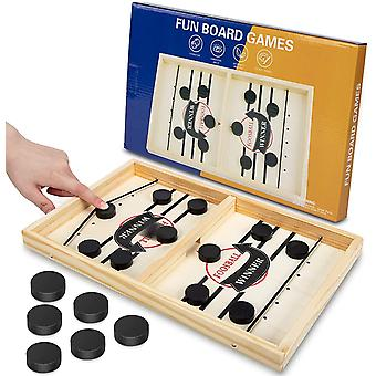 Fast Sling Puck Game, Gr8ware Funny Hockey Table Game Sling Puck Winner Board Parent-Child